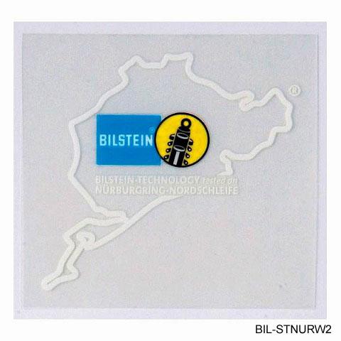 BILSTEIN ビルシュタイン ニュル ステッカー2 ホワイト
